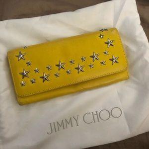 Jimmy Choo Yellow Nino Long Yen Mstar Trim Wallet